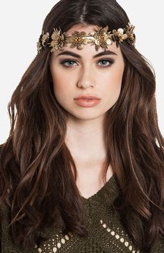 Floral Leatherette Headband