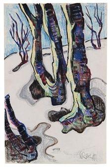Karl Schmidt-Rottluff - Winterwald (1940)