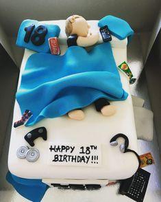 Birthday Cake For Teens Boy 52 Ideas - Birthday Partys ideas - kuchen 18th Birthday Ideas For Boys, Boys 18th Birthday Cake, Funny Birthday Cakes, Birthday Cakes For Teens, Birthday Cake Smash, Birthday Cupcakes, 5th Birthday, Birthday Wishes, Birthday Parties