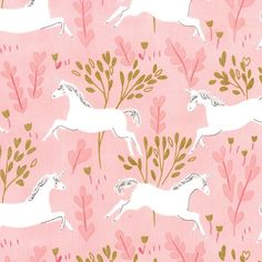 Tissu Sarah Jane Magic Unicorn Forest fond rose 20 x 110 cm - Michael Miller - Motif Personnel Tissu Michael Miller, Michael Miller Fabric, Baby Girl Crib Bedding, Girl Cribs, Baby Beds, Fabric Factory, Andover Fabrics, Fabric Patterns, Baby Patterns