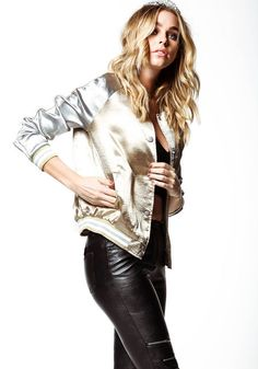 Gold Silky Satin Bomber Jacket - LoveCulture.com