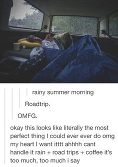 I want a road trip with him like this <3