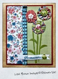 Fun way to use fabric in card making. :)