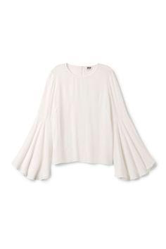 Weekday Arya Blouse in Off white