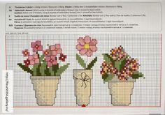 Χειροτεχνήματα: Γλάστρες με λουλούδια για κέντημα / Cross stitch patterns of pots of flowers