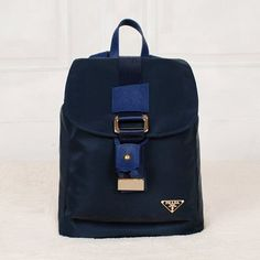 60c0ee920442 £126.00 Buy Prada Canvas Backpack In Royal Blue Shopping Online Prada  Backpack, Prada Tote