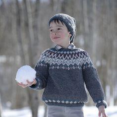 Tricoter un pull jacquard pour garçon