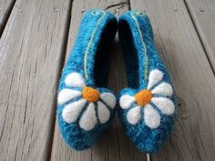 Ravelry: Project Gallery for Summer Slippers Felted Knit for Women pattern by Monique Rae
