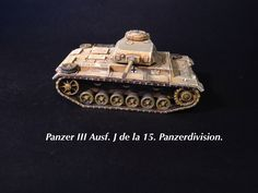 Panzer III Ausf.J of the Panzer-Regiment 8 of the 15th Panzerdivision 1/72