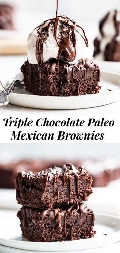 Mexican Chocolate, Paleo Chocolate, Chocolate Recipes, Chocolate Brownies, Paleo Baking, Baking Recipes, Cake Recipes, Paleo Dessert, Gluten Free Desserts