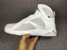 bcc85a932038f2 Buy Genuine Youth Big Boys Air Jordan Boys Shoe Air Jordan 7 Retro White  Grey Blcak For Sale