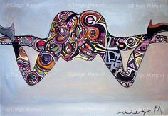 """W"", acrylic on canvas, 61 x 42 cm., 2006 Price of original painting: us$800"
