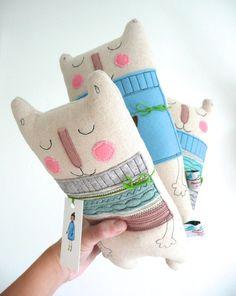 OOAK Quirky Bear by KatyPillingerDesigns on Etsy, £16.00