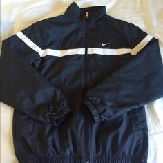 Shop Women s Nike Black White size S Jackets   Coats at a discounted price  at Poshmark. 394994865
