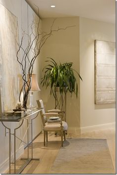 Paint Benjamin Moore white sand wall and white dove trim - beautiful!