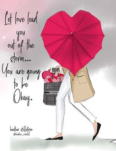 Inspirational Quotes Discover Valentines Day Let Love Lead YOU - Wall Art Print - Motivational Art - Fashion Illustration - Wall Art -- Print Happy Sunday Quotes, Good Morning Quotes, Grateful Quotes, Thursday Quotes, February Quotes, Its Okay Quotes, Positive Quotes For Women, Strong Quotes, Illustration Mode