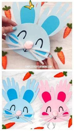 Handprint Bunny Craft For Kids Handprint Bunny Craft For Kids | Toddlers, preschool and kindergarten kids will love making these DIY Easter bunnies from their handprints and some simple craft supplies. They're cute, easy to make and come with a free printable template.  #kids #kidsactivities #kidscrafts #craftsforkids #easter #eastercrafts #eastercraftsforkids #handprintcrafts #handprintart #toddlers #preschool #preschoolers #preschoolcrafts #kindergarten #teachingkindergarten #elementary… Spring Crafts For Kids, Diy For Kids, Craft Kids, Easter Crafts Kids, Children Crafts, Spring Crafts For Preschoolers, Children Activities, Arts And Crafts For Kids Toddlers, Hand Crafts For Kids
