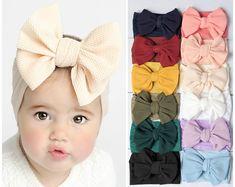 Nylon Baby Headbands Big Bow Headband Baby Girl Bow and Newborn Bows, Newborn Headbands, Baby Girl Headbands, Baby Girl Bows, Girls Bows, Head Wraps For Women, Big Bows, Banners, Top Knot