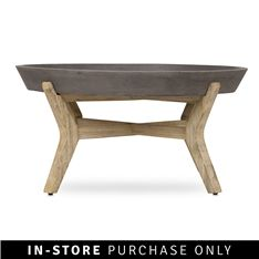 concrete round traytop coffee table