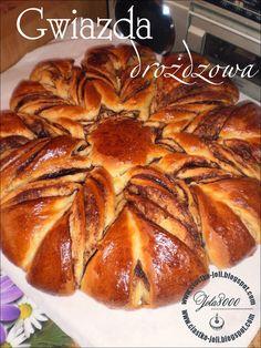 Ciasta, ciastka, ciasteczka.... Słodka chwila zapomnienia: Gwiazda drożdżowa z cynamonem - przepis krok po kr...