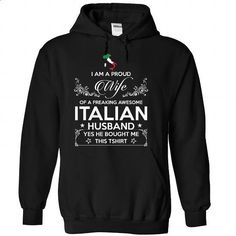 ITALIAN WIFE-the-awesome - #tee aufbewahrung #black sweater. PURCHASE NOW => https://www.sunfrog.com/LifeStyle/ITALIAN-WIFE-the-awesome-Black-Hoodie.html?68278