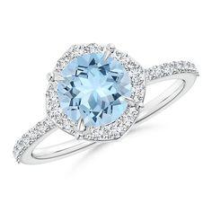Angara Floating Diamond Halo Cabochon Opal Cathedral Ring in Rose Gold BFJIXrhb9