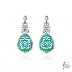 Pomegranate Hera Nine Stone Drop Earrings L4emkfaKoK