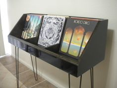 fully customizable vinyl record display and storage stand by DKVinylDisplays on Etsy https://www.etsy.com/listing/259791380/fully-customizable-vinyl-record-display