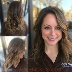 The always breath taking Monette is always ready for something new and fun.  American tailoring was the approach used to achieve her seamless look!  #trademarksalon #americantailoring #onedreamoneteam #balayage #hairpainting #becauseweconstantlygotoclasses