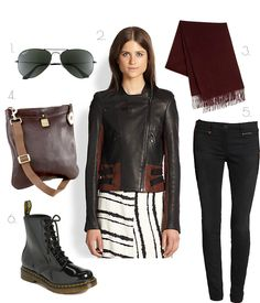 6.4.2014  Get Biker Chic here: www.fash365.com  #rayban #crossbody #boots #moto #leather #skinnyjeans #scarf