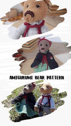 Crochet Teddy Bear Pattern, Crochet Animal Patterns, Crochet Bear, Crochet Patterns Amigurumi, Cute Crochet, Crochet Dolls, Diy Doctor Gifts, Cute Nurse, Felt Toys