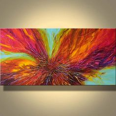 Art Original Abstract Painting Large by ModernArtbyJuliaBars