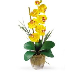 This Yellow Silk Orchid Flower Will Charm Your Guests and Add Color to Your Home -- Be sure to check out this awesome product.
