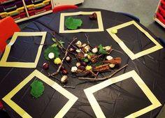 A simple but inviting idea! A simple but inviting idea! Autumn Crafts, Autumn Art, Autumn Theme, Autumn Ideas, Nature Crafts, Tuff Spot, Autumn Activities, Art Activities, Outdoor Activities