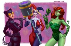 Gotham City Sirens by Brandon Leach