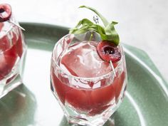Roasted Cherry Cocktails