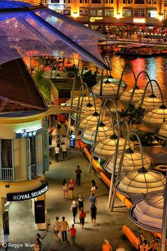 Canopy over the street of Clarke Quay, Singapore ✯ ωнιмѕу ѕαη∂у