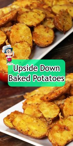 Upside Down Baked Potatoes Creamy Garlic Chicken, Pizza Casserole, Butter Cheese, Creamy Cheese, Baked Potatoes, Meatball Recipes, Easy Healthy Dinners, Recipe Today, Stick Of Butter