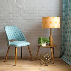 The beautiful lampshade is made from 100% pure new wool woven in Scotland. The woven wool fabric has a nice soft sheen
