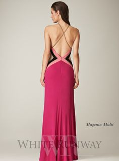A gorgeous full length dress by LM by Mignon. A two-toned dress with ruched detailing along the front and a low back. Available in Magenta a...