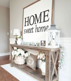 Home Sweet Home Wall Decoration Ideas For Rustic Farmhouse - Best Farmhouse Decor Ideas: Beautiful, Modern and Classic Country Style Home Decorating Ideas and Designs Dekor Ideen 75 Best Rustic Farmhouse Decor Ideas + Modern Country Styles Modern Country Style, Country Style Homes, Rustic Modern, Rustic Elegance Decor, Modern French Decor, Country Style Living Room, Decoration Hall, Foyer Table Decor, Entryway Wall Decor