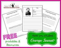 Learn George's Seurat Pointillism Techniques and FREE Resources!   Fun for the whole family!