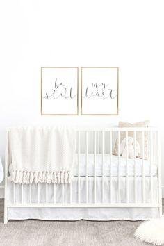 YOU PRINT PRINTABLE Wall Art  Be Still My Heart by DearLilyMae, Nursery Decor, Baby Room Decor, Nursery Inspo, Children's Room Ideas