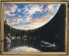 Robert Gonsalves is a Canadian painter of magic realism with a unique perspective and style. Optical Illusion Paintings, Optical Illusions, Art Optical, Robert Gonsalves, Psychedelic Space, Trippy Painting, Magic Realism, Amazing Paintings, Illusion Art