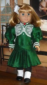 Circa 1904 Holiday Dress Made by KMK fits Popular 18 Inch Dolls