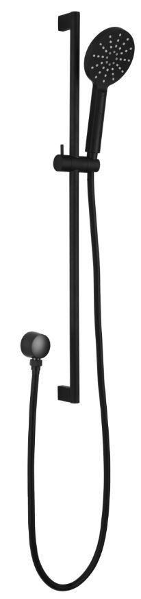Ikon Round sliding shower set - Matte Black Or Chrome