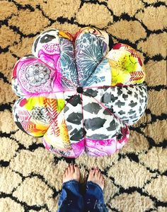 alisaburke: scrap fabric floor pouf is this not spectacular?