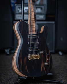 """Kiesel Guitars on Instagram: """"Are you a fan of our Solo model with the bevel option? Check this one out featuring an Ebony top, Swamp Ash body, and Royal Ebony…"""" Music Items, Guitar Body, Kiesel, Guitar Design, Bodies, Ash, Electric, Music Instruments, Check"""