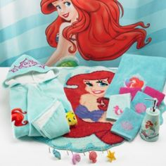 Disney Little Mermaid Shimmer & Gleam Bath Accessories-I thought you would love this! maybe you should get this for your bathroom @ the apartment! lol @Hunter Briley
