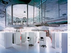 This is what I want my workplace to look like in, say, 3-5 years - Pionen Data Center Stockholm, Sweden - via Wired